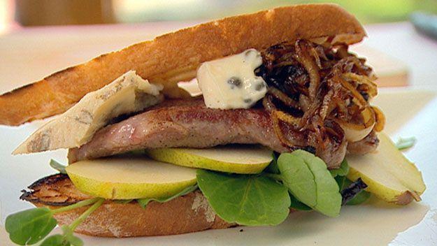 Wagyu steak sandwich
