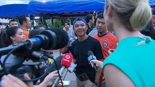 "He said the moment they were rescued was ""very special"". Picture: 9NEWS"
