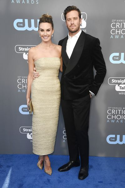 Actors Elizabeth Chambers  and Armie Hammer at the 2018 Critics Choice Awards