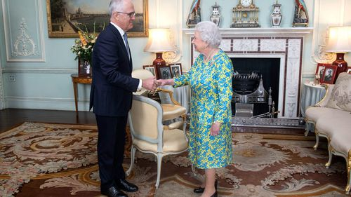 Malcolm Turnbull has met the Queen on his trip to Europe. (AAP)