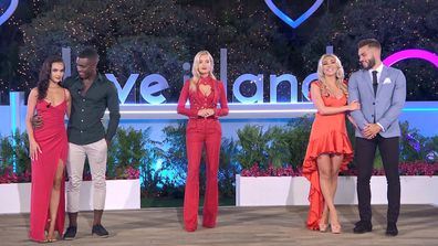 Host Laura Whitmore announces the winners of Winter Love Island UK Season 6.