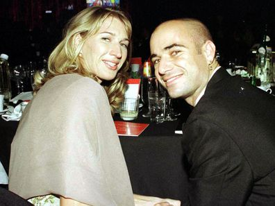 Steffi Graf and Andre Agassi during Andre Agassi Grand Slam For Children 1999 at MGM Grand in Las Vegas, NV, United States. (Photo by KMazur/WireImage)