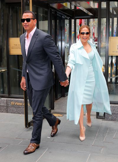Jennifer Lopez and Alex Rodriguez in New York City,  April 2017