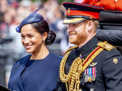 Harry meghan trooping the colour