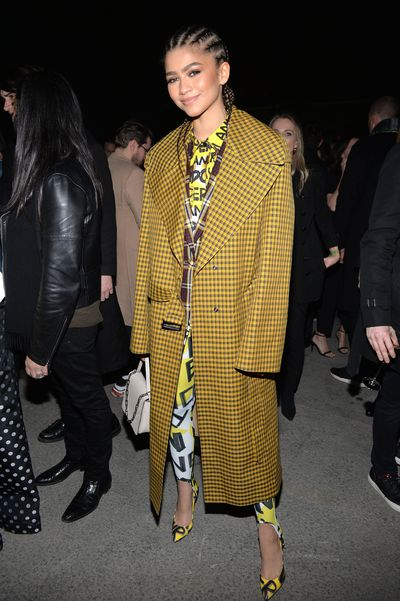 Zendaya at Burberry A/W '18, London Fashion Week
