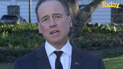 Greg Hunt responded to claims GPs weren't told of the shakeup to the vaccine rollout before it was announced.