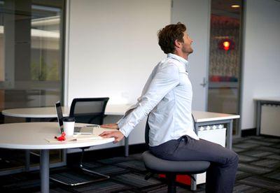 Reverse desk pec stretch