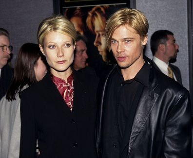 """Gwyneth Paltrow and Brad Pitt during """"The Devil's Own"""" Premiere at Cinema One in New York City"""