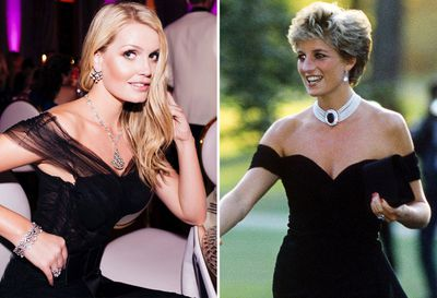 "Lady Kitty Spencer's homage to Princess Diana's ""revenge"" dress"