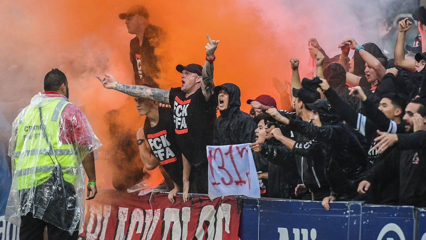 Western Sydney Wanderers fans risk punishment after lighting flares at Sydney FC derby
