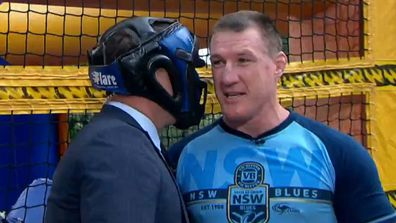Karl Stefanovic and Paul Gallen trade blows in ring