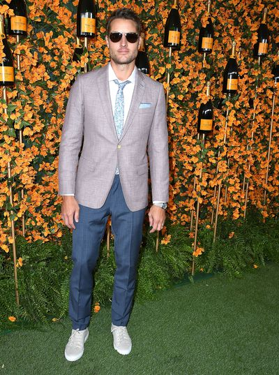 Justin Hartley arrives at the 9th Annual Veuve Clicquot Polo Classic event in Los Angeles, October 6, 2018