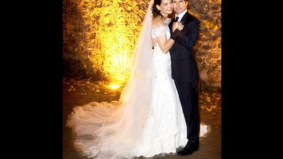 After destroying Oprah Winfrey's couch declaring his love for <i>Dawson's Creek</i> starlet Katie Holmes, Tom made it official with a fairytale wedding in Italy, complete with a medieval castle setting, fireworks and a wedding cake taller than him (but shorter than Katie).
