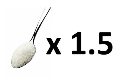 <strong>Answer: C - 1.5 teaspoons of sugar</strong>