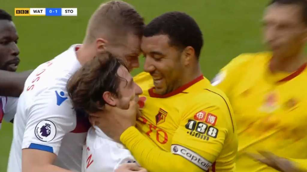 Watford player banned for face grab