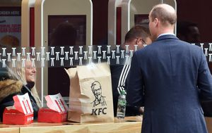 Prince William surprises diners at London KFC