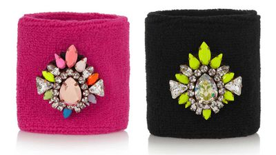 Shourouk Wimblee Swarovski crystal-embellished stretch terry wristband