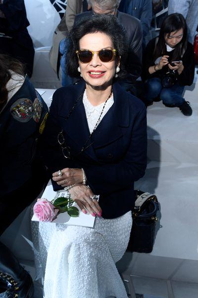 Bianca Jagger at Christian Dior Spring/Summer '18