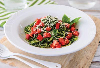 Zucchini pesto pasta (zucchetti)