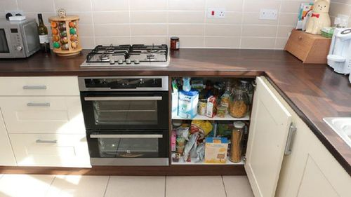 The cupboard containing the gas valve which Emile Cilliers tampered with. Picture: PA