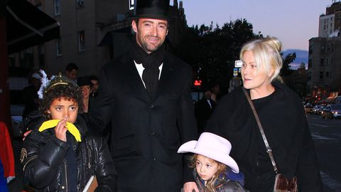 Hugh Jackman and his family