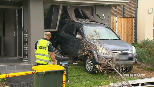 The 34-year-old provisional driver was not injured  in the crash. (9NEWS)