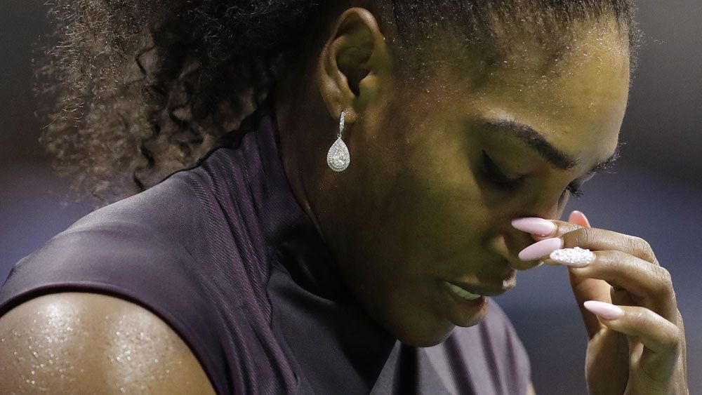 Serena Williams is out of the US Open. (AAP)