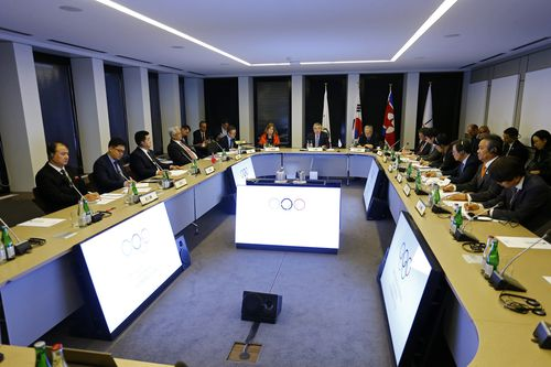 The meeting held at the IOC headquarters in Pully, Switzerland. (AAP)