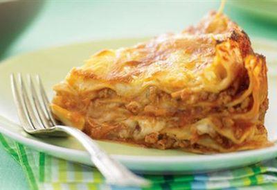 Lasagne pie with pork