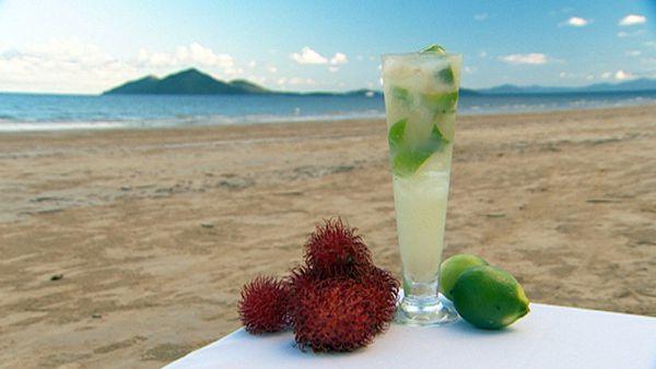 Rambutan & lime cocktail