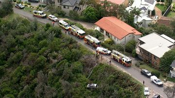 A teenage girl has been rescued after her car plunged ten metres off a cliff.