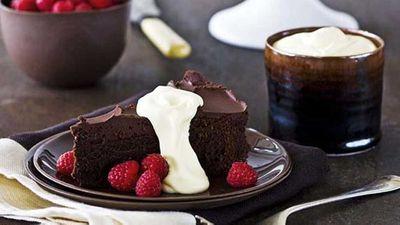 """Choc fudge cake <a href=""""http://kitchen.nine.com.au/2016/05/16/17/40/choc-fudge-cake"""" target=""""_top"""">recipe</a>"""