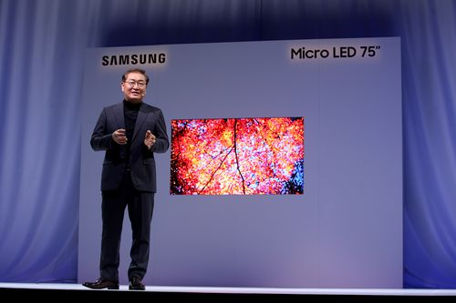 Modular technology means the TV can be any size and shape.