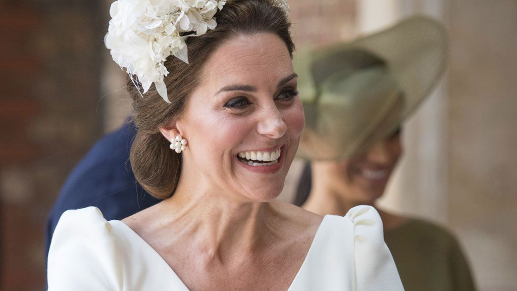 Kate Middleton at the christening of Prince Louis