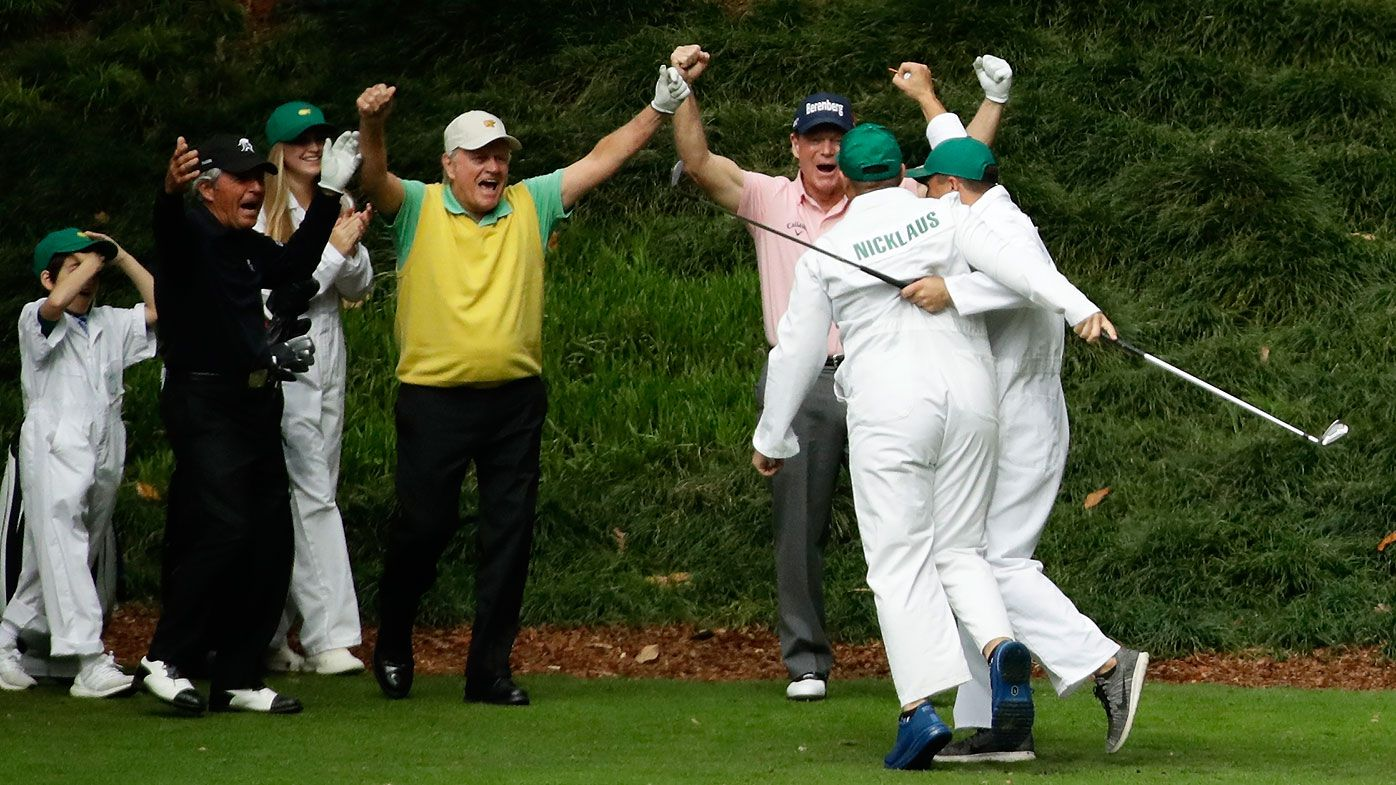 Jack Nicklaus' teenage grandson sinks amazing hole-in-one at The Masters Par 3 contest