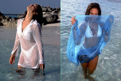 JLo's history of hotness all began with this racy photoshoot in 1997 at Club Med in the Bahamas. Wowser!