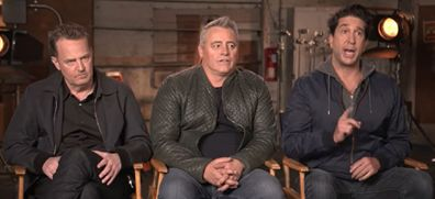Matthew Perry, Matt LeBlanc and David Schwinner on Access Hollywood.