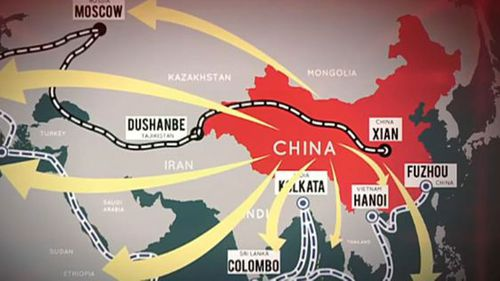 China's multi-trillion dollar building plan to connect Asia and Europe by land and sea.