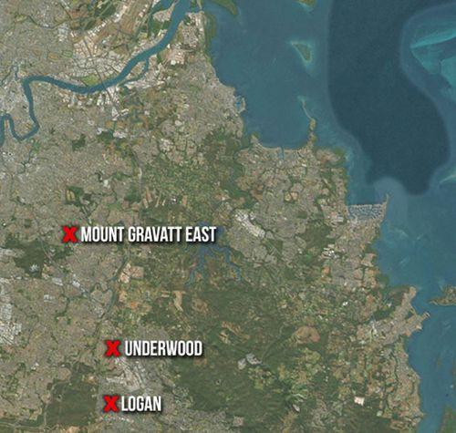 Police have raided Brisbane properties at Mount Gravatt East, Logan and Underwood. (9NEWS)