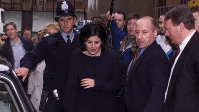 Monica Lewinsky arrives at a book store