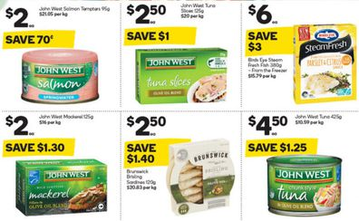 Woolies has some great options for tinned fish for Lent, or health, or whatever.
