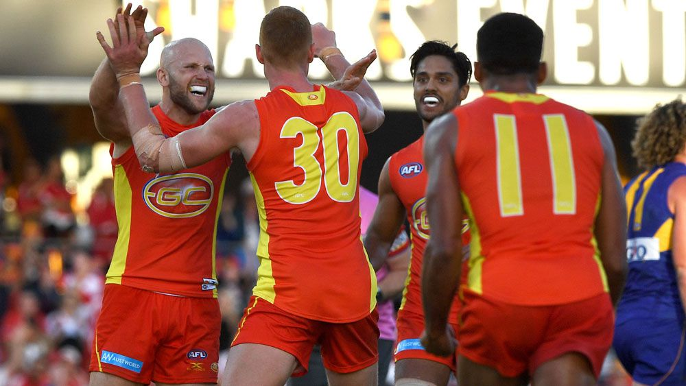 Gary Ablett and the Gold Coast Suns enjoyed a win over West Coast Eagles. (AAP)
