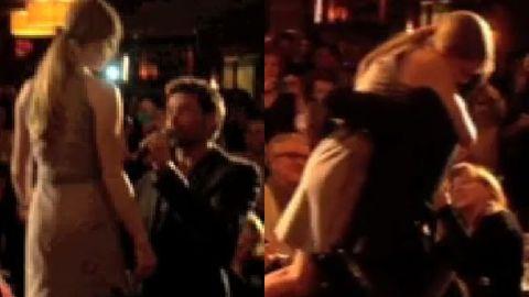 Watch: Hugh Jackman gives Amanda Seyfried touchy-feely birthday 'lap dance'