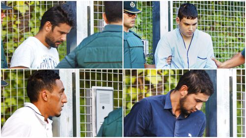 The four suspects of the alleged terror cell appeared in court. (AP)