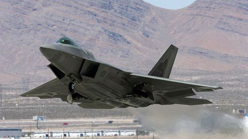A F-22 Raptor. (Getty Images)