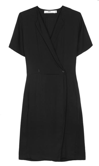 """<a href=""""https://www.mychameleon.com.au/clerk-wrap-dress-p-3314.html?typemf=women"""" target=""""_blank"""">Dress, $299, Hope</a>"""