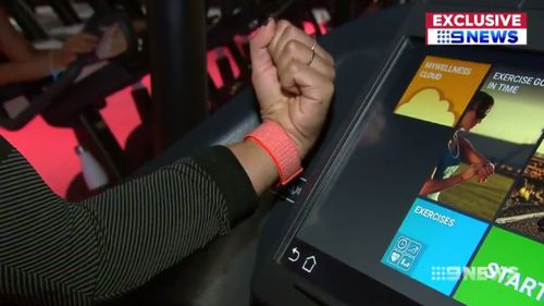 It's as easy as touching on and off to start your workout. (9NEWS)