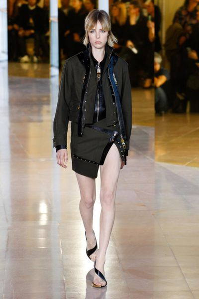 Leading the new guard of sexy at Anthony Vaccarello? Thigh-high splits and down-to-there plunging necklines.