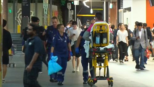 The 31-year-old was taken to hospital for treatment. (9NEWS)