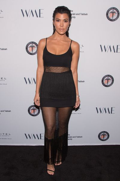 Kourtney Kardashian at a gala for the Syrian American Medical Society in Los Angeles, May, 2018